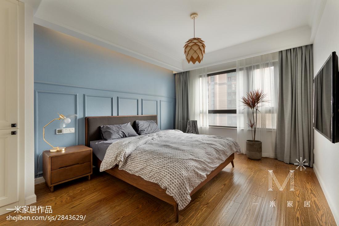 热门面积100平北欧三居卧室实景图片欣赏