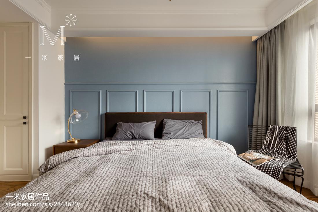 温馨93平北欧三居卧室图片欣赏