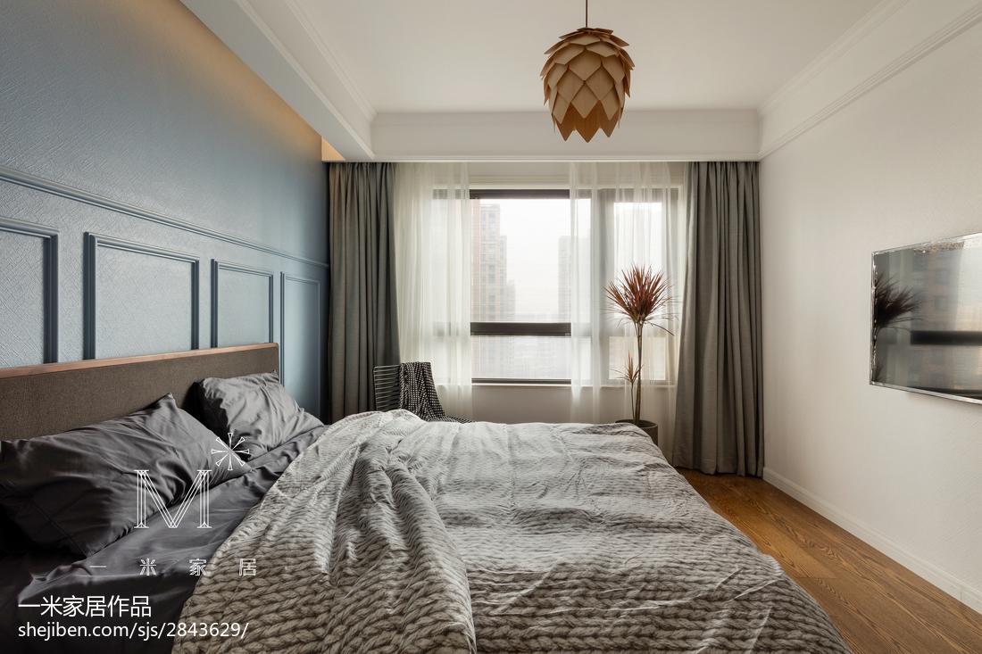 热门96平米三居卧室北欧装修设计效果图