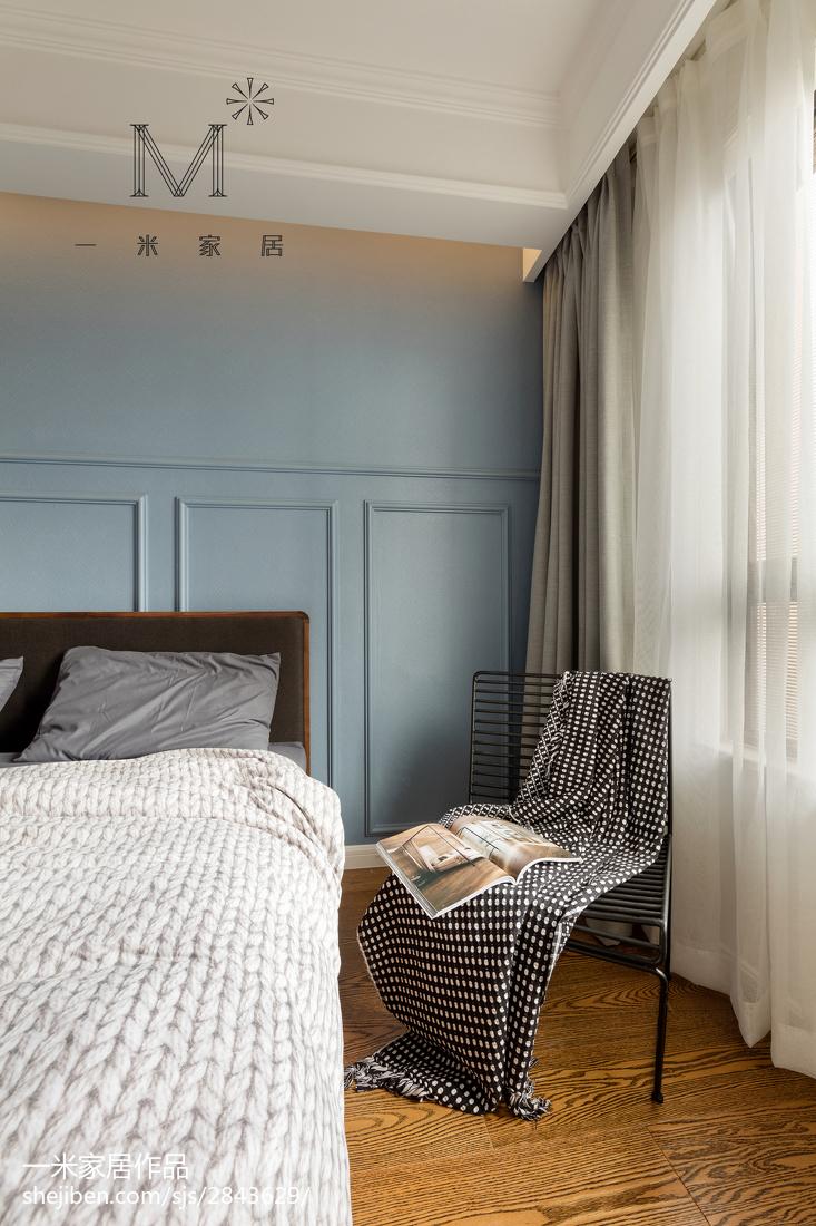 热门面积92平北欧三居卧室装修实景图片欣赏