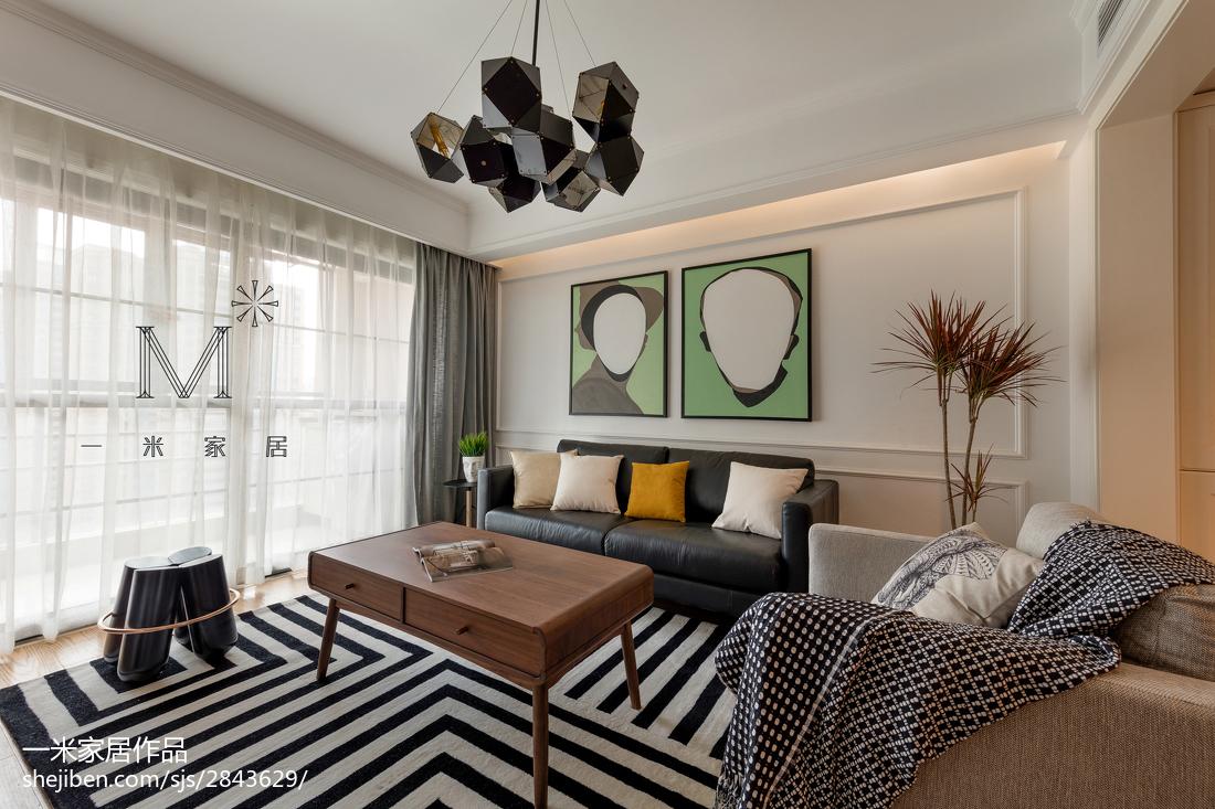 热门面积106平北欧三居客厅装修设计效果图