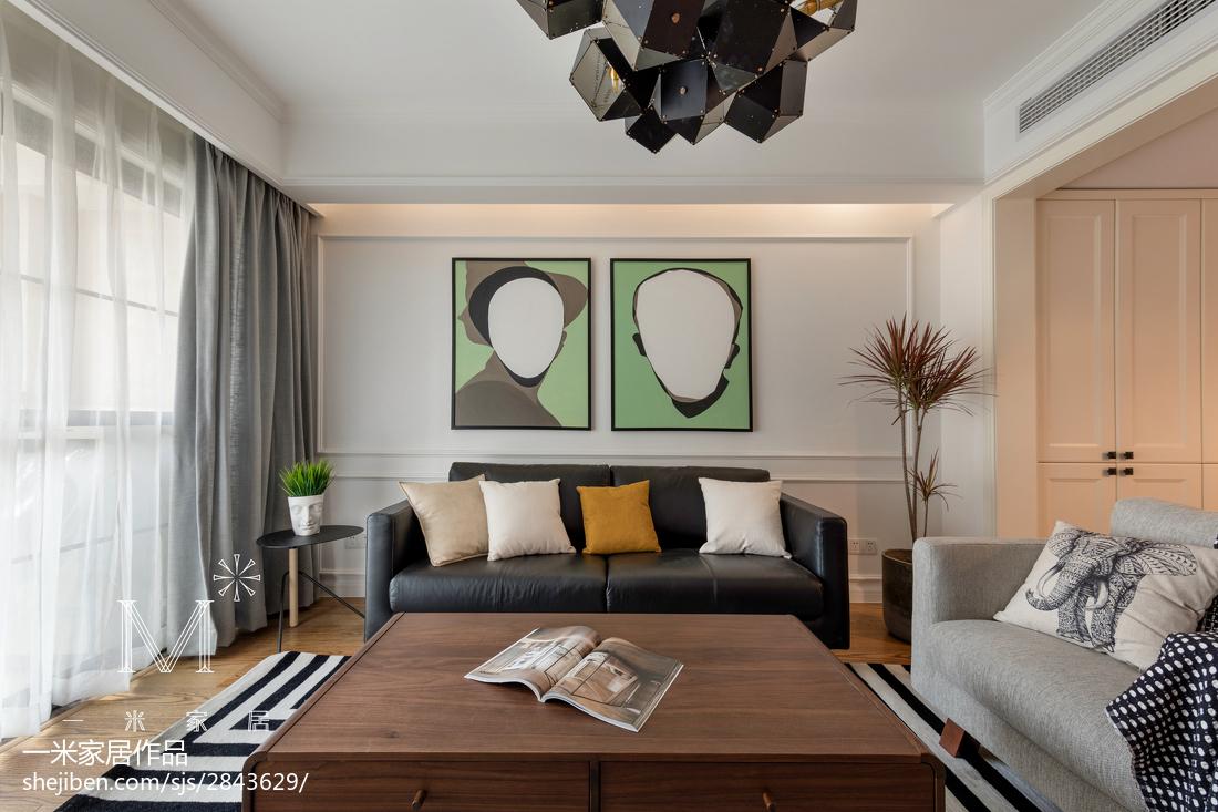 精选97平米三居客厅北欧装修设计效果图片