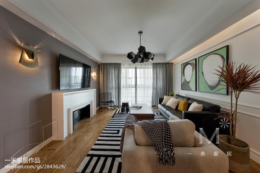 2018精选面积92平北欧三居客厅设计效果图