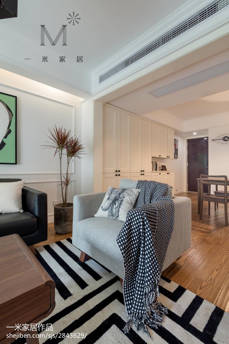 2018面积91平北欧三居客厅装修设计效果图片欣赏