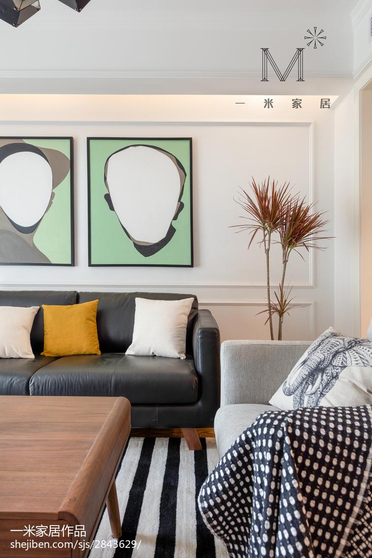 2018面积97平北欧三居客厅装修欣赏图片大全