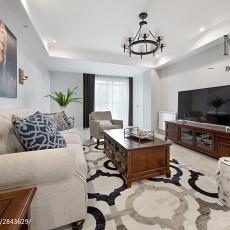 2018面积94平美式三居客厅装修实景图