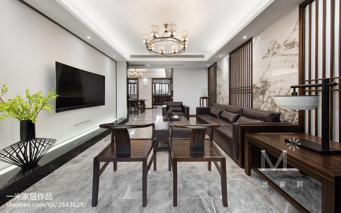165m²新中式客厅设计图片