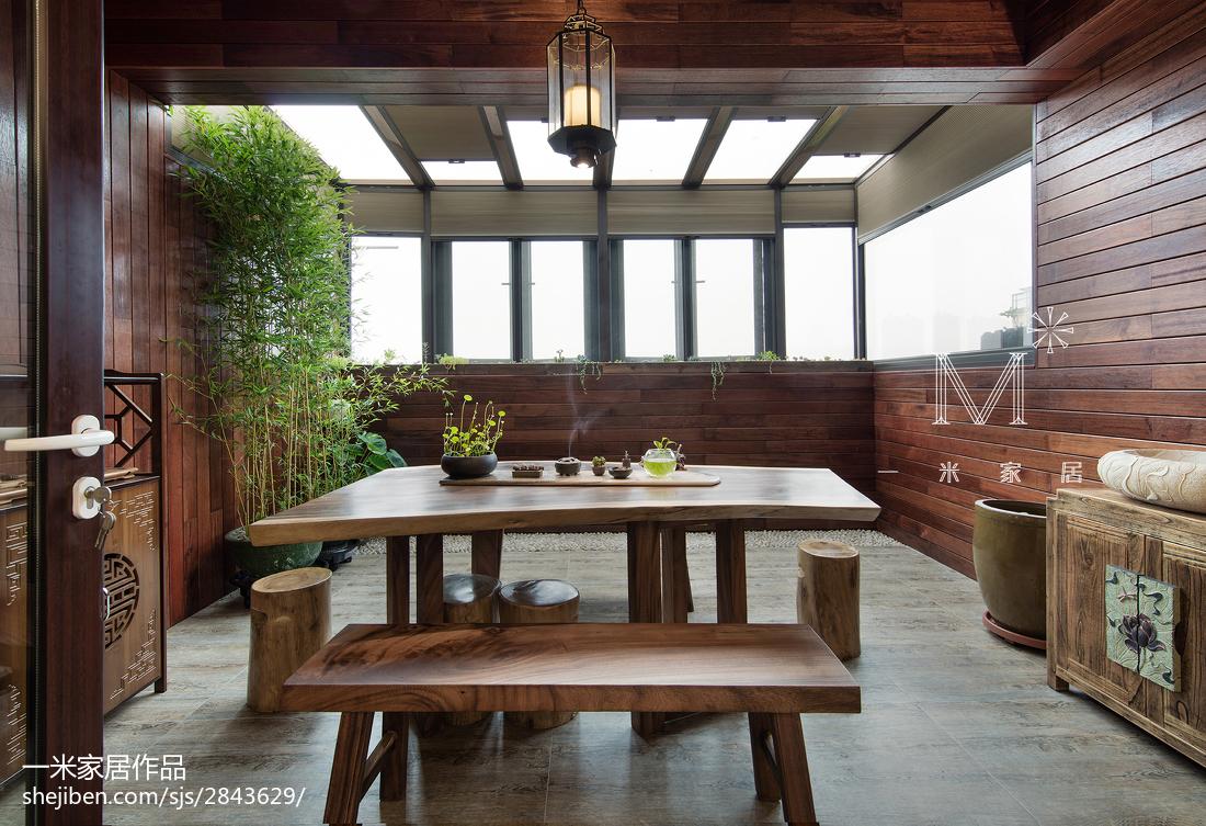 热门面积144平中式四居阳台装修欣赏图