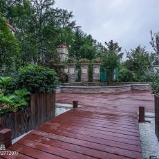 精美别墅花园中式装修设计效果图