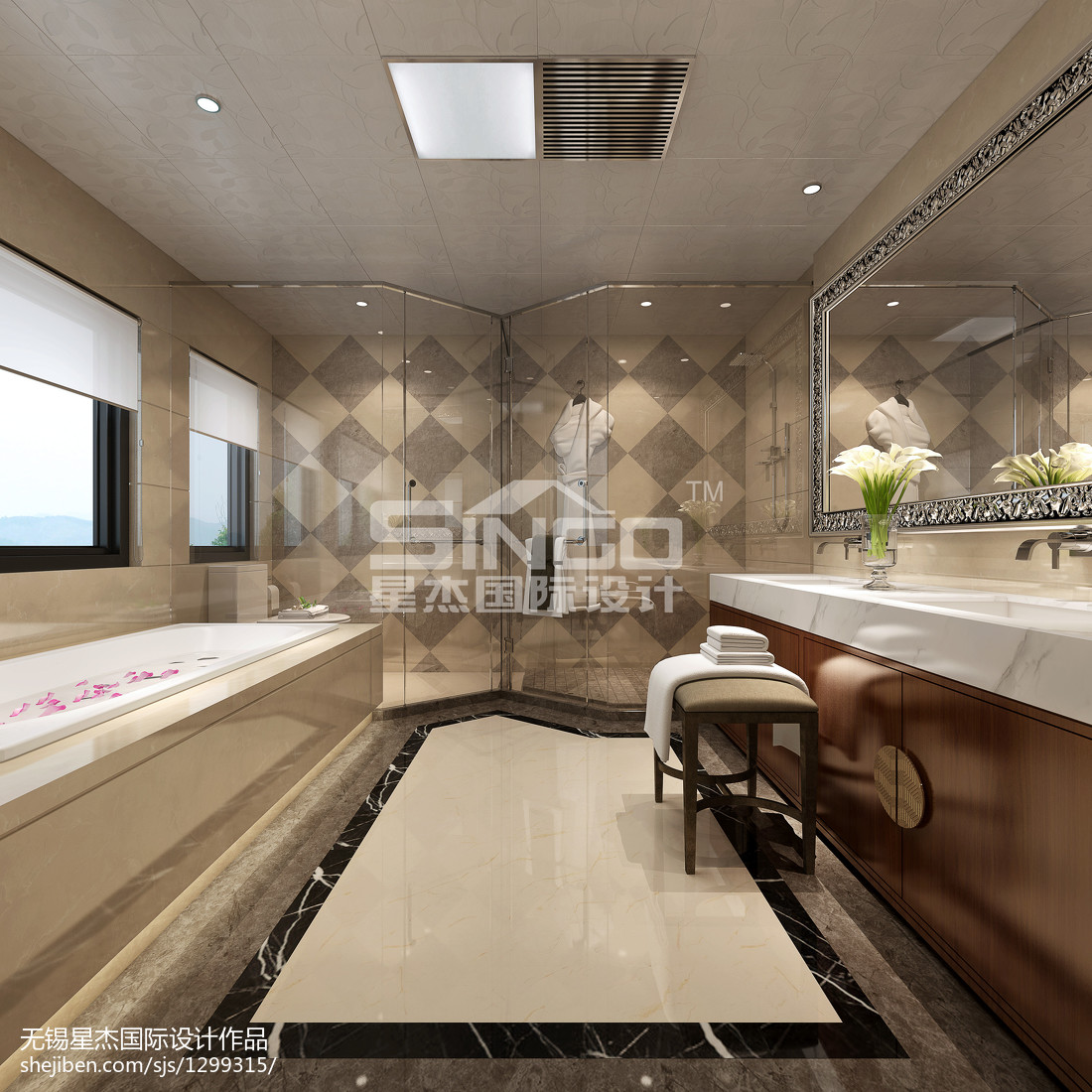 简欧设计客厅室内装修效果图片