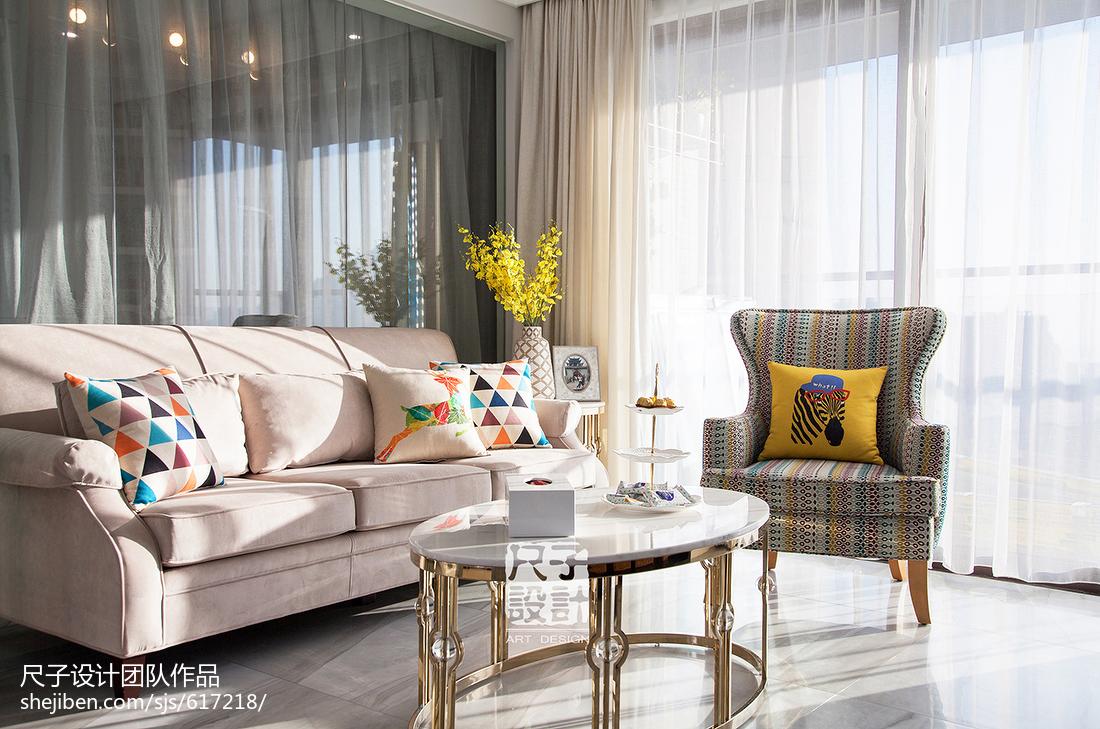 89㎡别致公寓风客厅沙发设计图