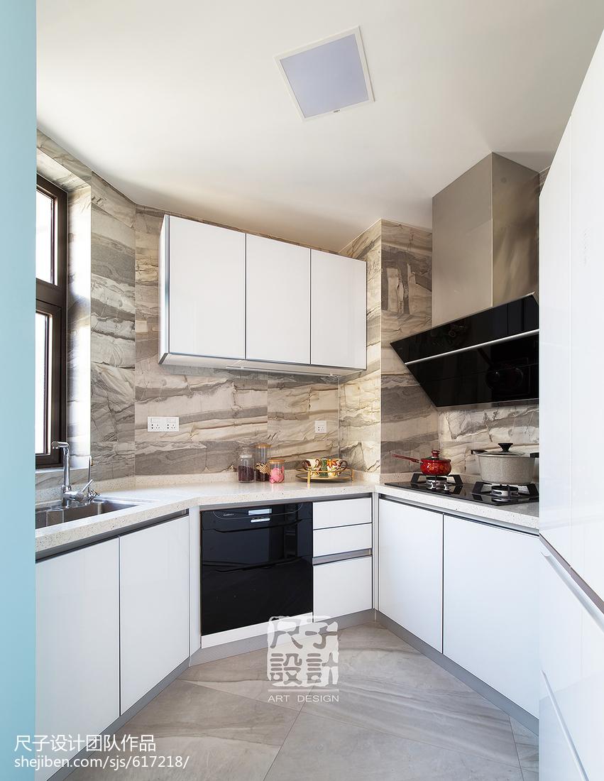 89㎡别致公寓风厨房设计图