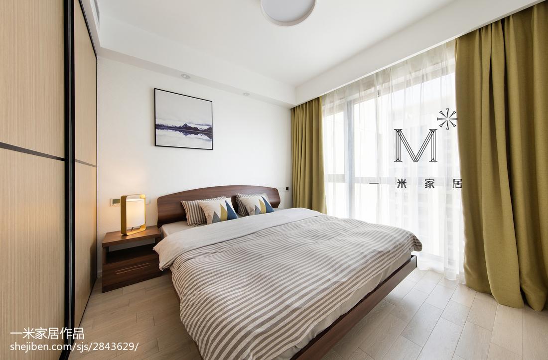 2018101平米三居卧室现代效果图