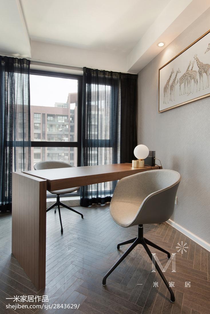 2018精选103平米三居书房现代装修设计效果图片大全
