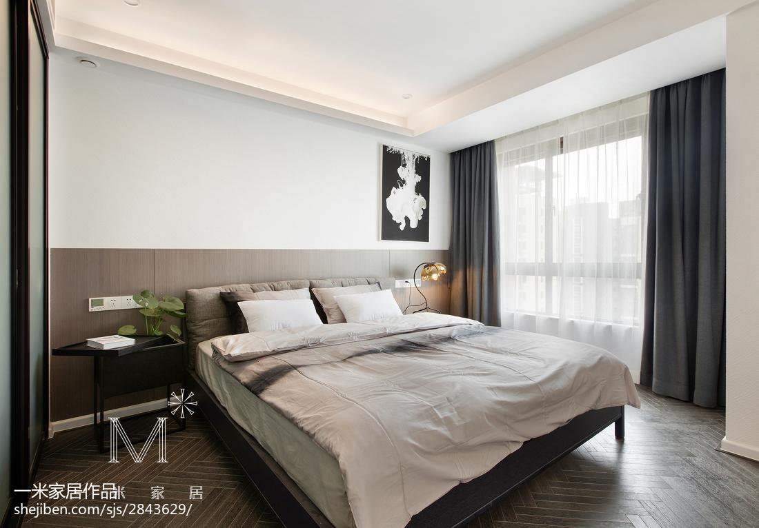 热门面积102平现代三居卧室装修效果图片欣赏