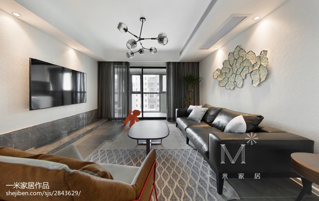 2018精选101平方三居客厅现代效果图片大全
