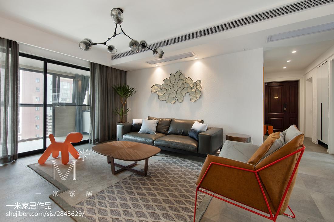 精选面积97平现代三居客厅装修设计效果图片大全