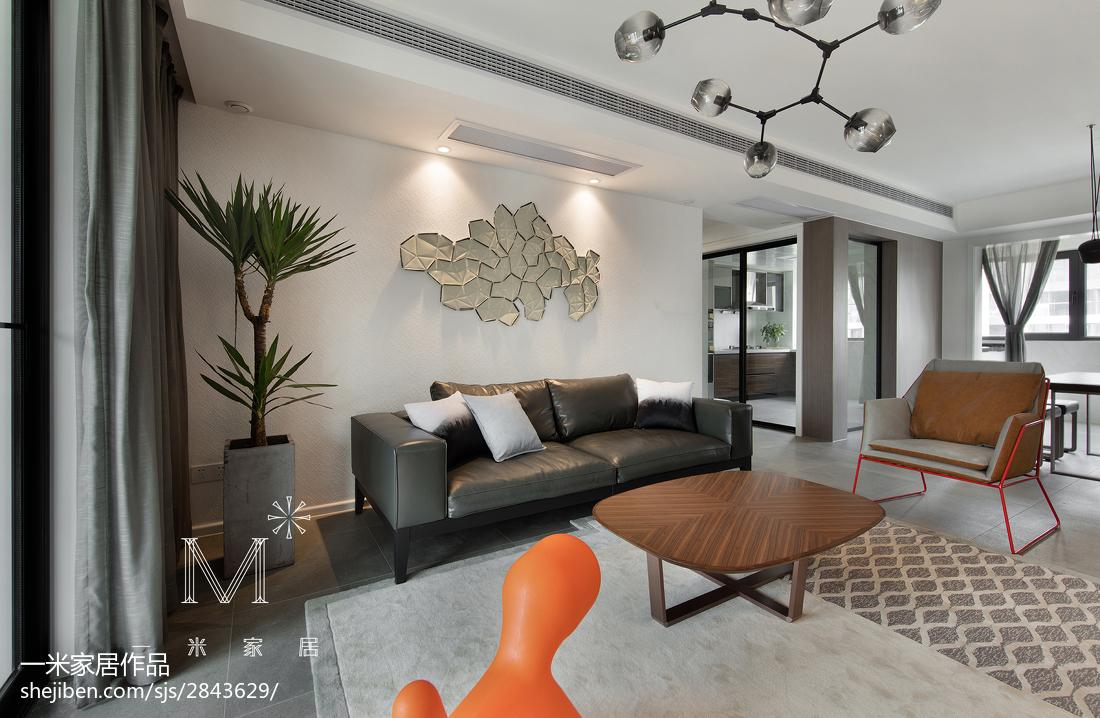 精美109平方三居客厅现代效果图片欣赏