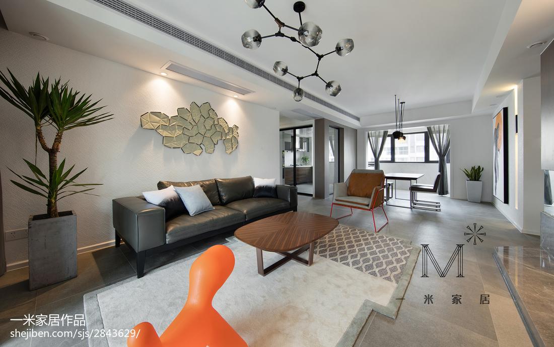 2018108平方三居客厅现代实景图片大全