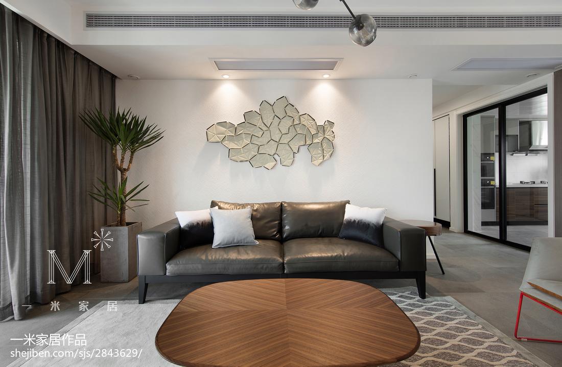 热门面积90平现代三居客厅效果图片欣赏