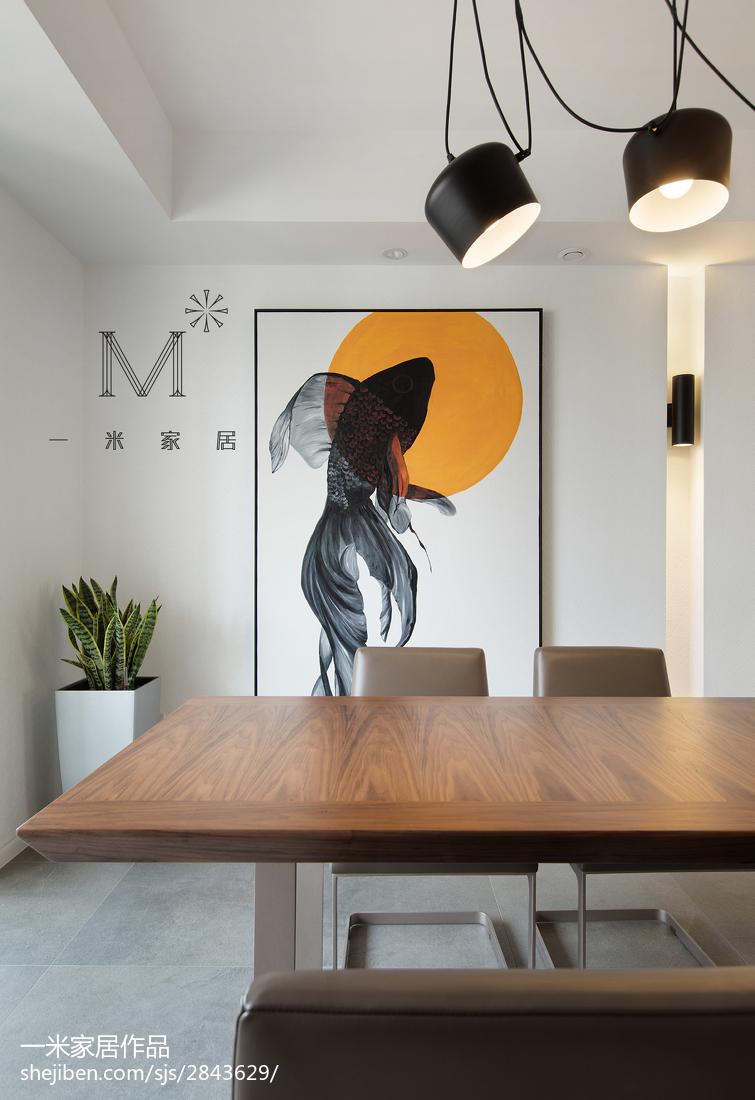 典雅142平现代三居餐厅设计效果图