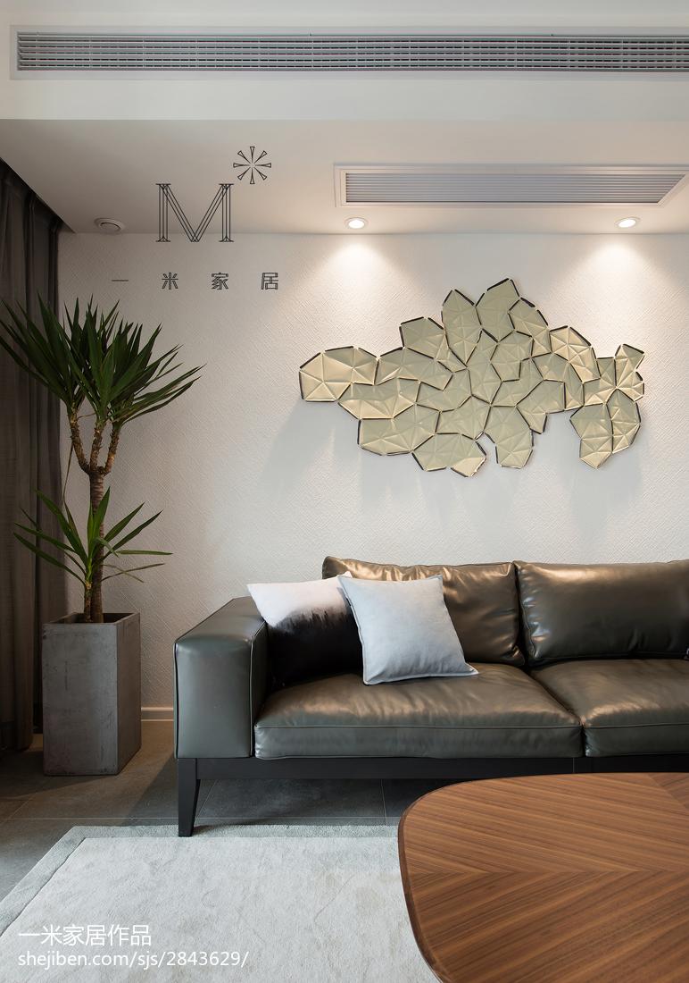 热门90平米三居客厅现代装修设计效果图