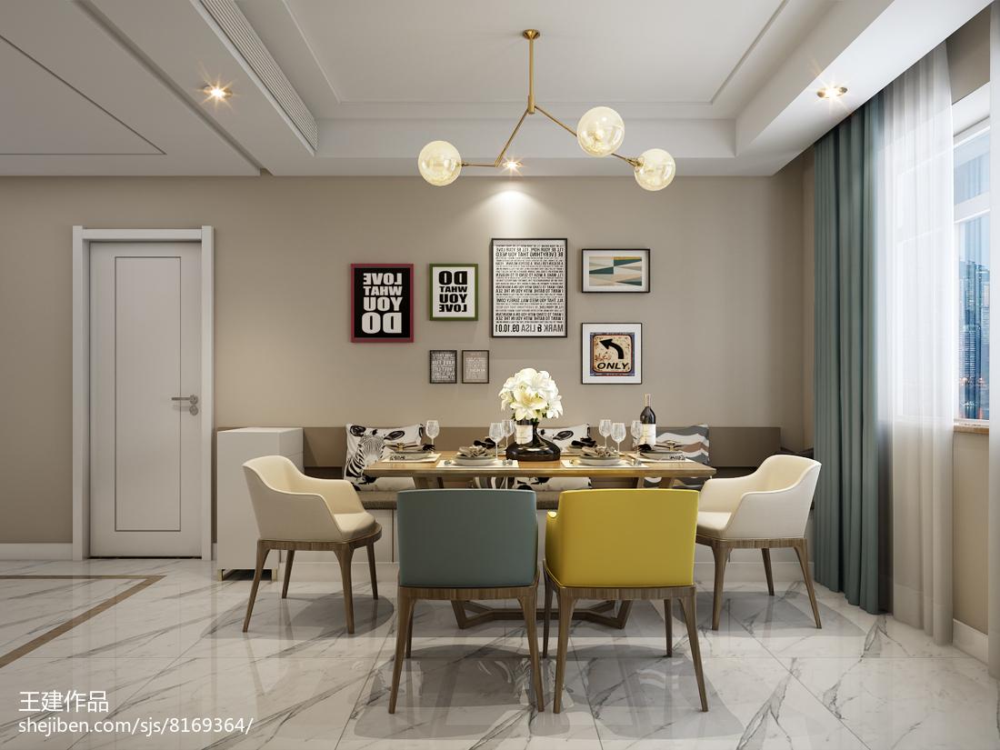 面积120平现代四居装修设计效果图片欣赏