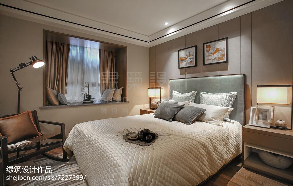 2018精选卧室中式装修效果图片
