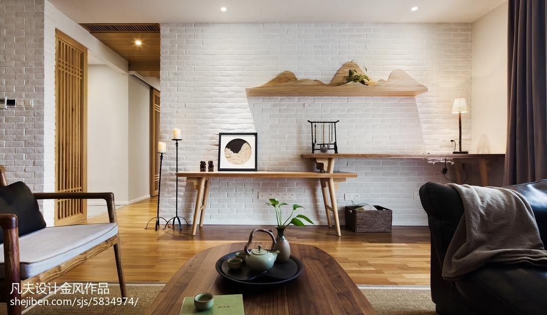 2018102平米三居客厅中式欣赏图片大全
