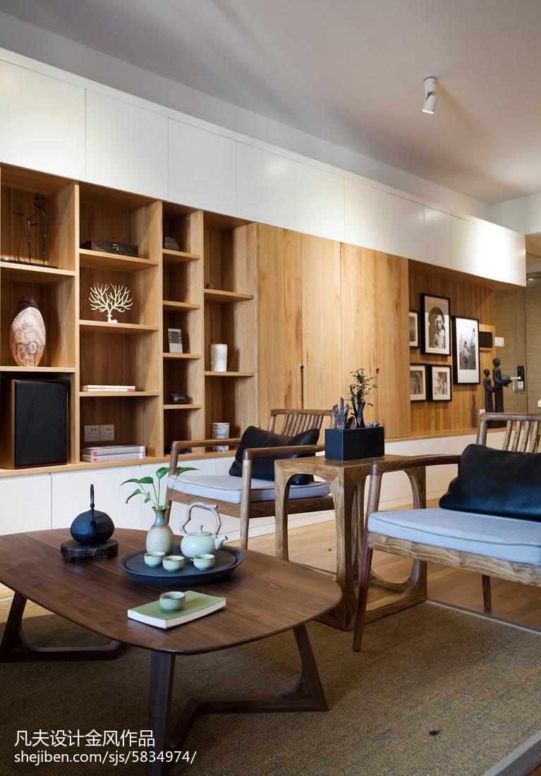 精美90平米三居客厅中式效果图片