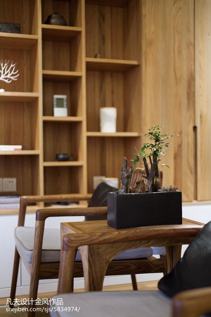 2018精选95平米三居客厅中式装修设计效果图片大全