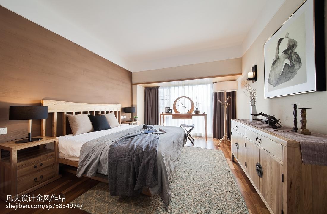 精选98平米三居卧室中式装修设计效果图片欣赏