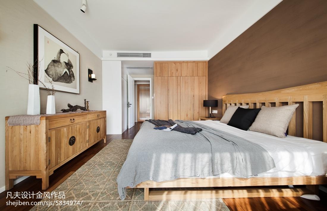 精选91平米三居卧室中式装饰图片大全
