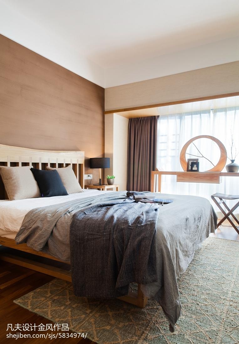 精选面积102平中式三居卧室效果图片欣赏
