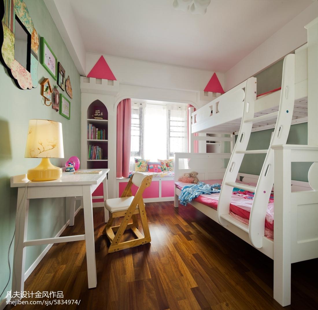 2018精选面积91平中式三居儿童房装修设计效果图片欣赏