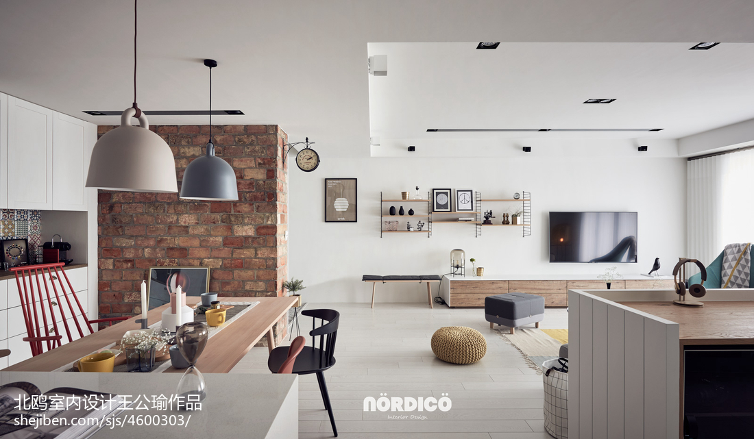 2019104平北欧四居餐厅设计效果图