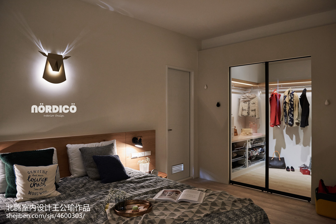 明亮125平北欧四居卧室装饰图片
