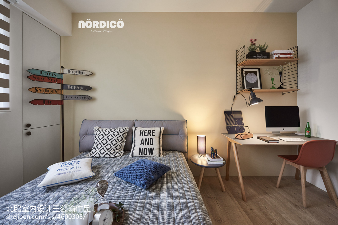 优美118平北欧四居卧室装饰图片