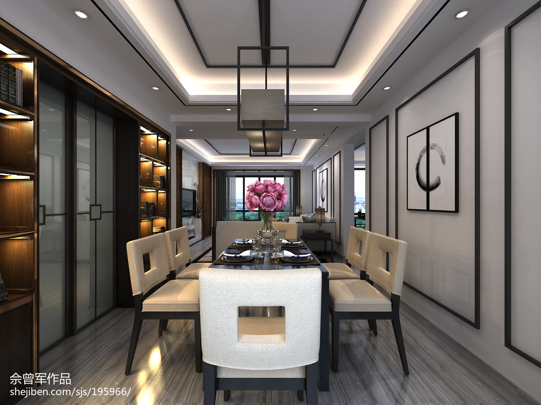 美式后现代客厅设计效果图片