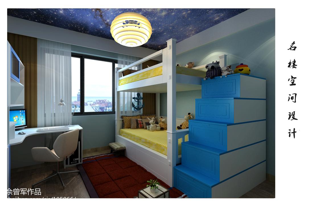 美式风格复式家居卧室效果图片