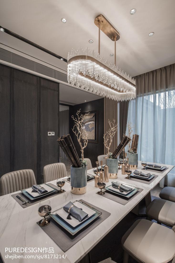 精选144平米中式别墅餐厅装修设计效果图