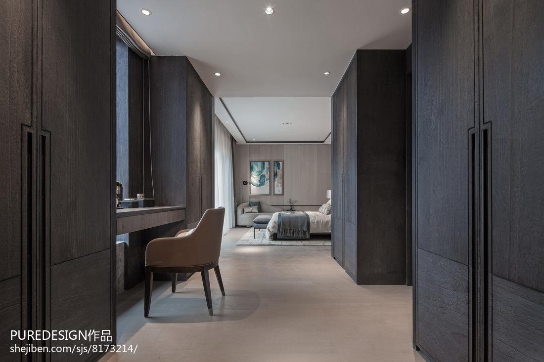 精美面积131平别墅卧室中式实景图片欣赏