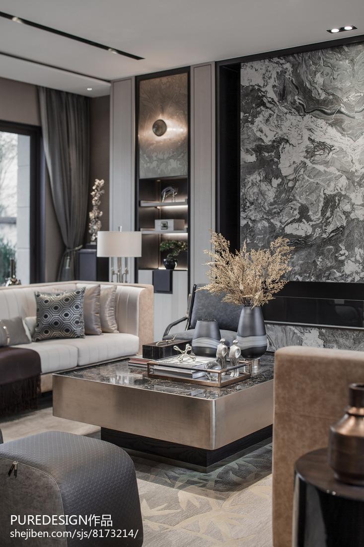 2018143平米中式别墅客厅装饰图片