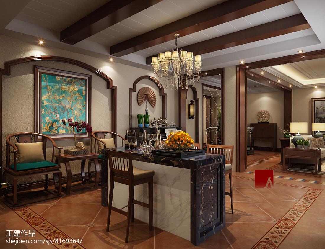 美式风格复式家居客厅装饰效果图片