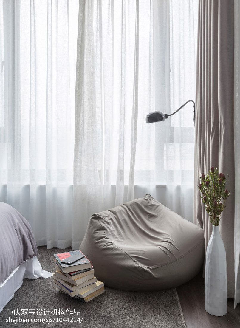典雅75平混搭三居卧室图片大全