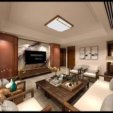 2018精选面积144平中式四居客厅装修图