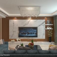 精选大小88平现代二居客厅装修实景图