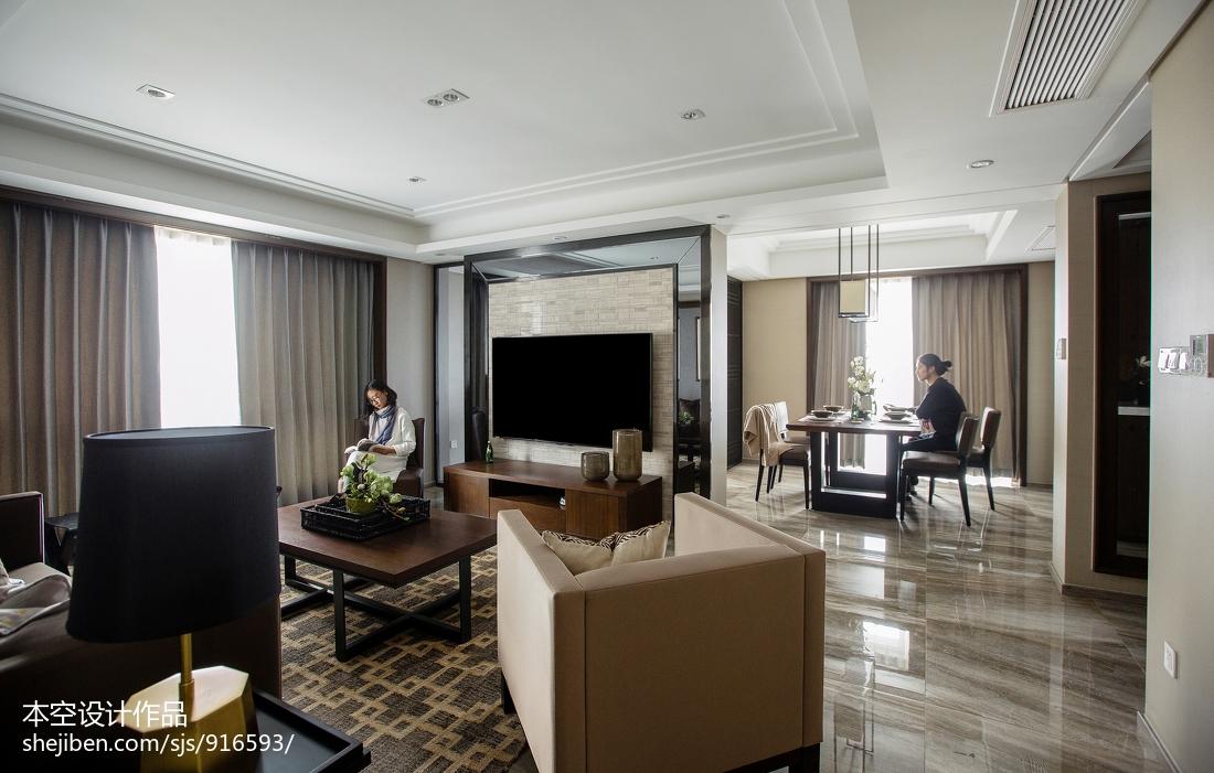 201883平米二居客厅中式装修效果图片