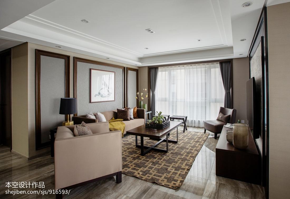 精美面积73平中式二居客厅效果图片大全