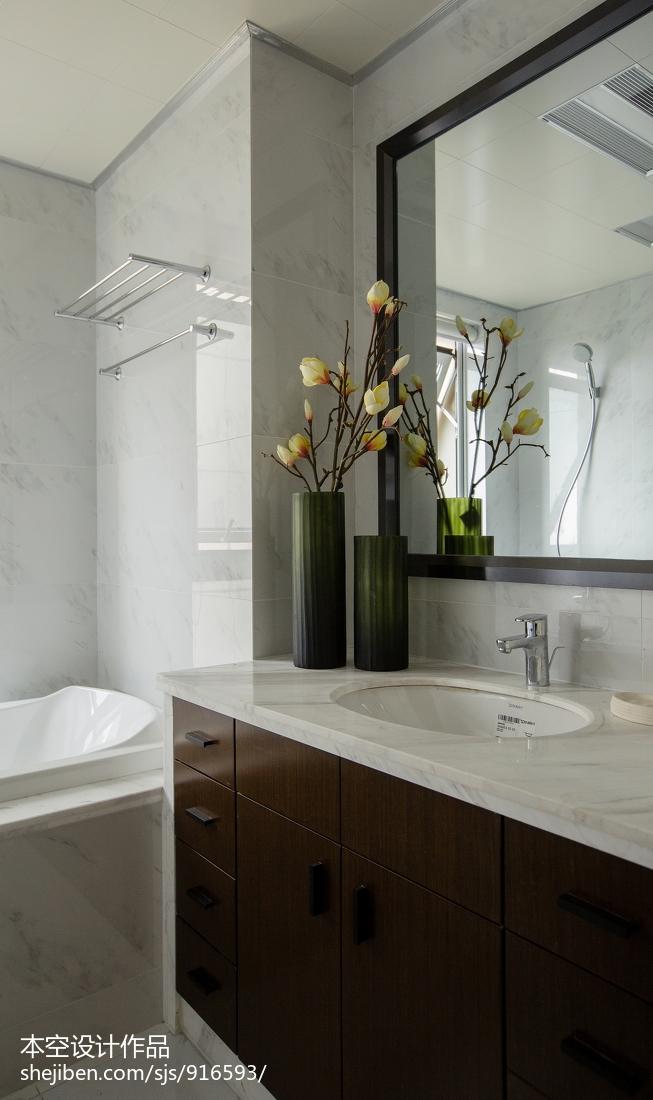 2018面积84平中式二居卫生间装修设计效果图片